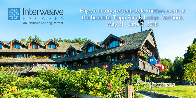 Join Interweave Escapes in Stowe, Vermont May 31 – June 3, 2018 with Instructors Laura Nelkin and Beth Brown-Reinsel