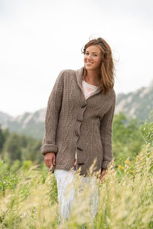 Crocheted Cable Cardigan