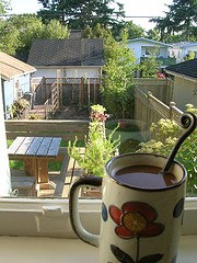 Sunny morning, with coffee