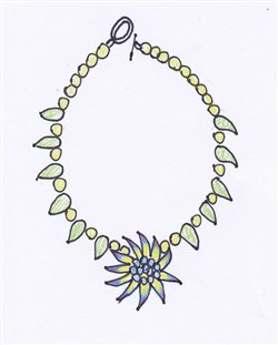 Perfect 4 Sketched Ideas For Beaded Necklace Shapes   Interweave