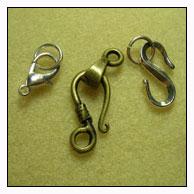 3 large clasp hooks
