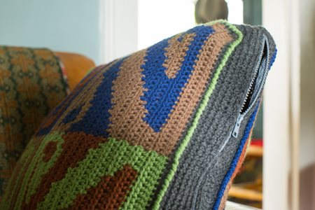 Andean Wings Pillow Side