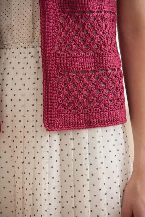 Short-sleeve Crochet Cardigan