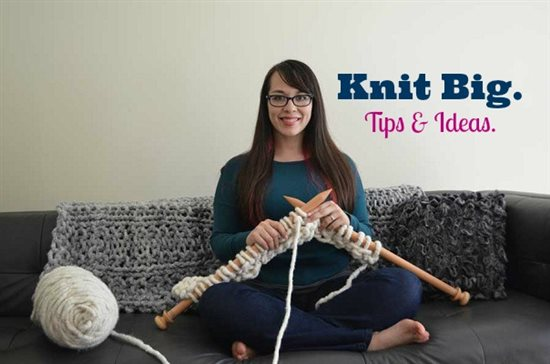 Learn about chunky knitting and quick and cute ideas for knitting needles size 50s in this exclusive article by knitwear designer Mari Chiba.