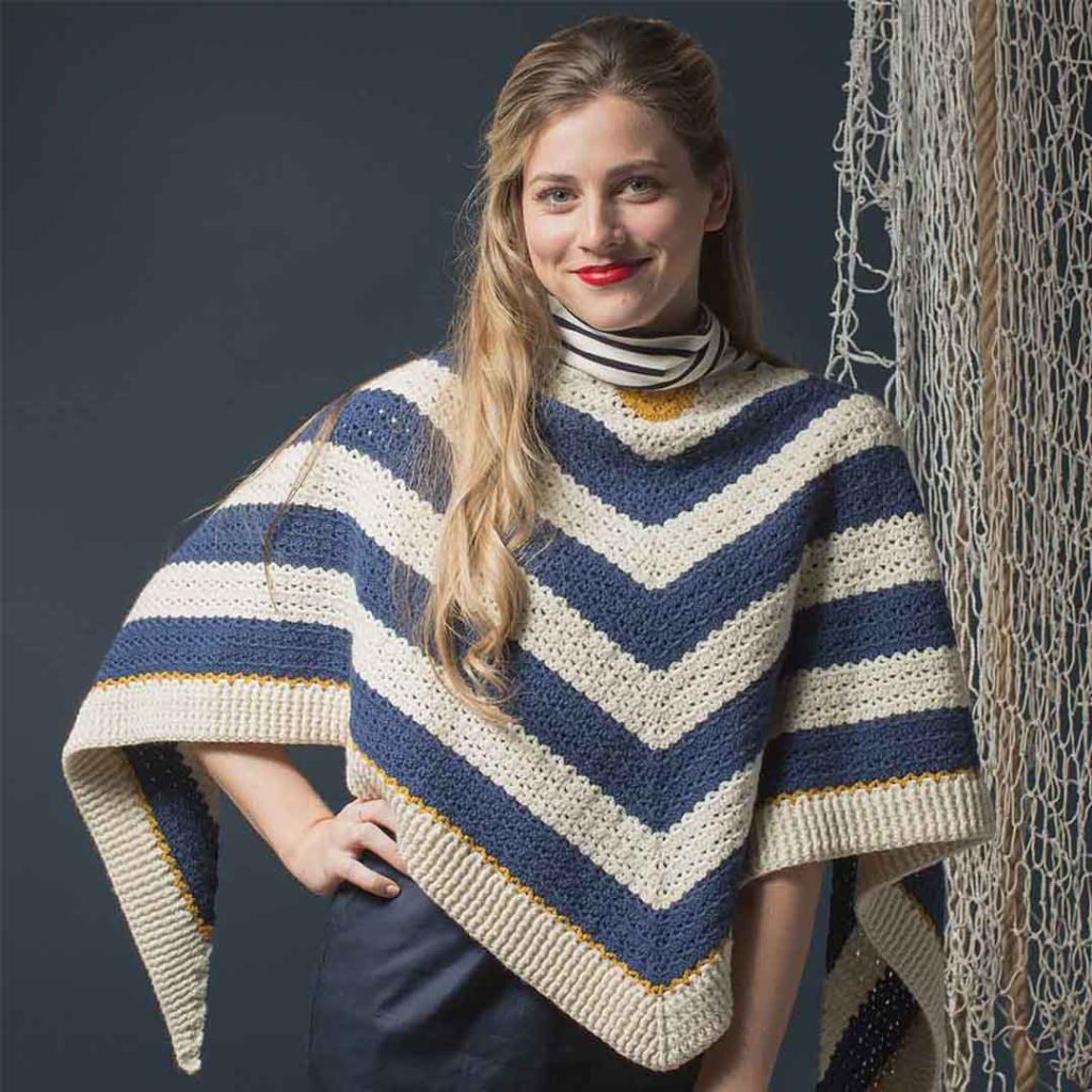 red, white, and blue with Interweave Crochet
