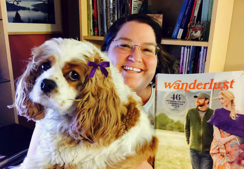 Daisy and I want to share one of our favorite books, Wanderlust by Tanis Gray. Daisy is pretty sure I need the mittens or Fair Isle infinity cowl from this book. Fab! ~Kathleen