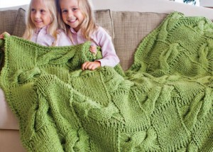 You'll love this entrelac and cable knit afghan found in our eBook on projects for knitting blankets and afghans.