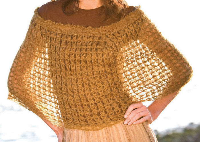 how to crochet a broomstick lace cape
