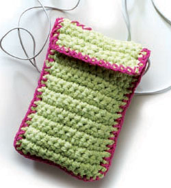 The Handy Utility Case bag is the ideal crochet bag pattern for people to put their prized possessions in.