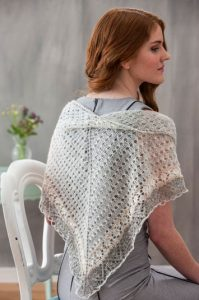 Sunna Lace Shawl to Knit by Evelyn A. Clark.