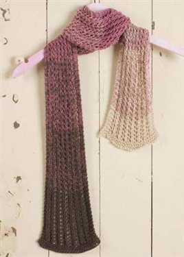 Free knitted lace pattern: Spectrum scarf knitting pattern.