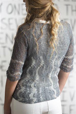 Debbie O'Neill Wavy Lace Cardigan knit.purl Spring/Summer 2015