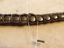 Learn how to make a seed bead bracelet with this step-by-step tutorial: Step 6.