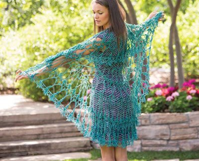 Colorful Crochet Lace: Crocheted Shawl
