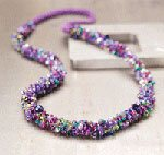 Make this beaded necklace in our FREE crochet jewelry eBook.