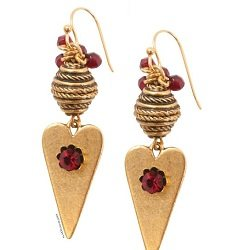 The Heart Earrings are a fun epoxy clay earring project found in our free Crystal Clay Jewelry Projects eBook.
