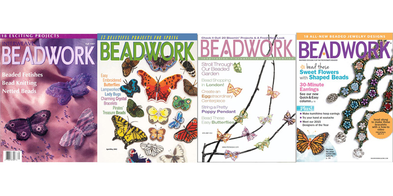 Beadwork Magazine Covers - Four Butterfly Features