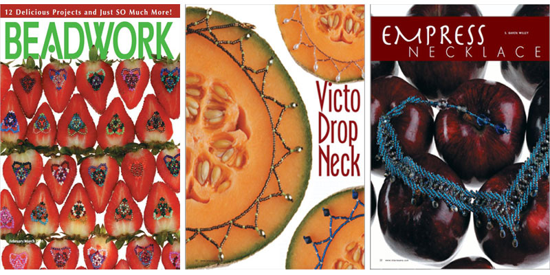 Beadwork Magazine Covers - the fruit themed issue