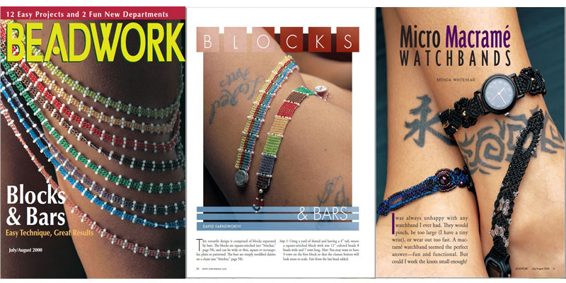 Beadwork Magazine Covers - Images from the Skin Issue