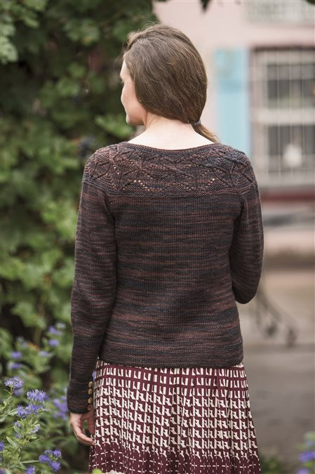 cocoa cardigan knitted sweater pattern