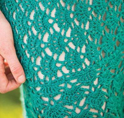 Colorful Crochet Lace: Shell Stitch Dress