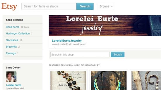 Lorelei's Etsy shop