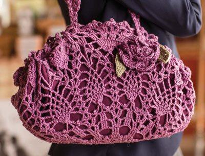 Colorful Crochet Lace: Crochet Lace Doily Bag