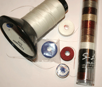 Best beading thread for bead weaving projects: nylon beading threads.