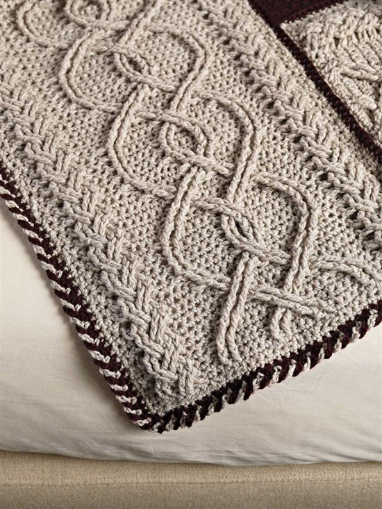 Unexpected Afghans: Crocheted Cable Afghan