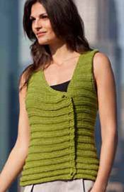 Norma Ruched Knit Tank by Irina Poludnenk