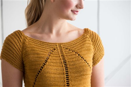 Debbie O'Neill Eyelet and Welt Tee knit.purl Spring/Summer 2015