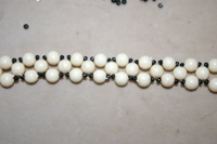 How to update vintage jewelry with beads example.