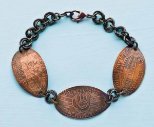 Learn how to make this coin bracelet in this free eBook on jewelry making for beginners.