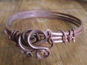 half round coiled wire bracelet