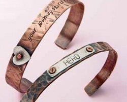 metal stamped bracelets