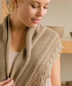 Beech Leaf Shawl knitting pattern