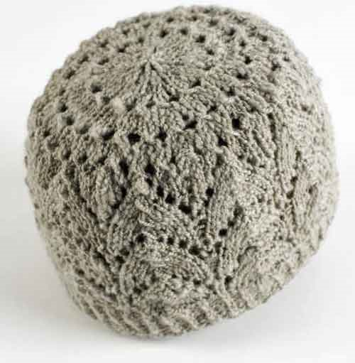 Free Knitting Pattern Lace Beanie : Knit a beautiful Horseshoe Lace Cap - Interweave