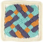 Learn how to do this over under square crochet afghan pattern.