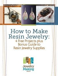 Learn how to make resin jewelry with these 4 free projects and a guide to resin jewelry making.