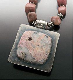 Lexi Erickson's astorite bezel-set pendant