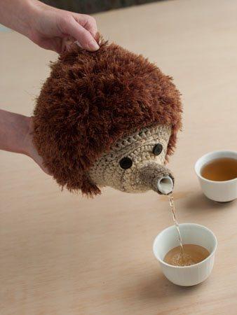 Hedgehog Teapot Cozy Pour