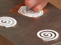 Spiral sawing template from Helen's video on jeweler's saw.