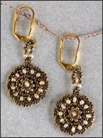 Peyote Stitch Earrings - Randy Drobny - Antique Inspirations