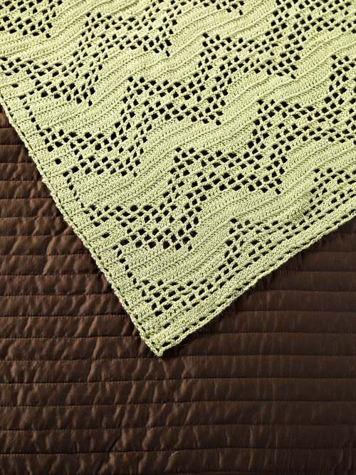 Filet Crochet Lace Afghan