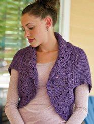 knit lace shrug pattern