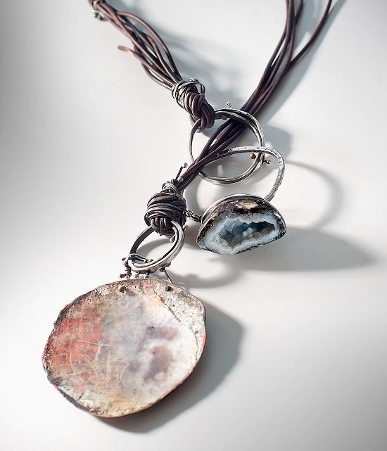 heavy-gauge wire and resin jewelry by Susan Lenart Kazmer
