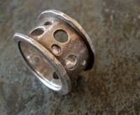 silver metal clay ring