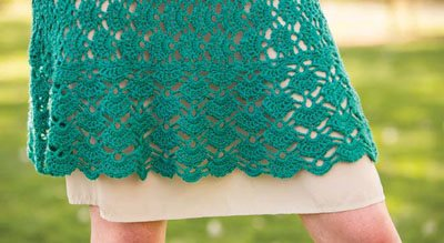 Colorful Crochet Lace: Lace Crocheted Dress