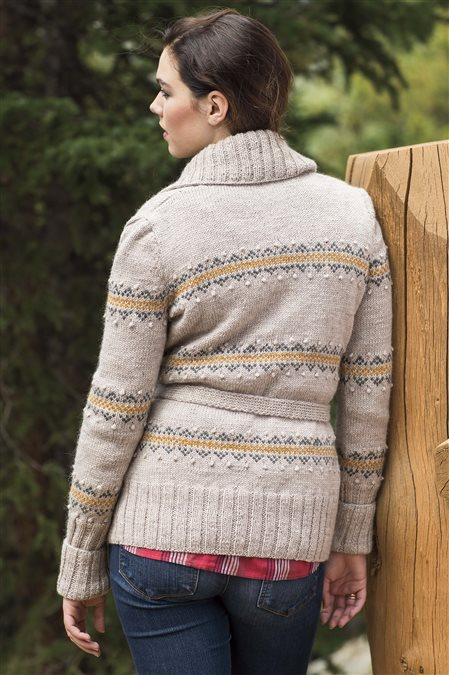 zuni cardigan knitted sweater pattern