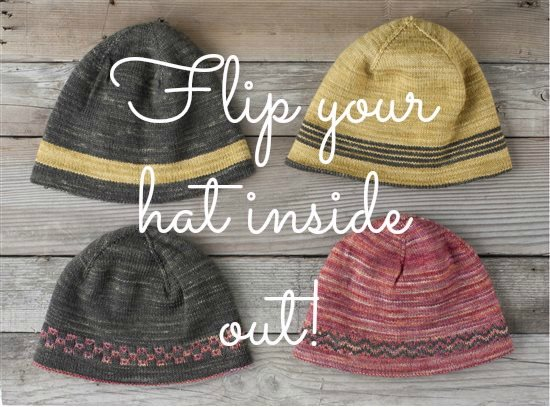 Knitting Patterns For Hats Using Sock Yarn : Use up Sock Yarn with a Reversible Hat Pattern - Interweave